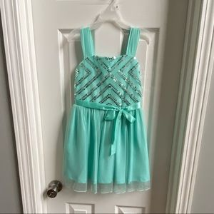 BCX Girls Turquoise Party Dress Size 7